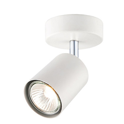 Image for Single White Metal Spotlight from StoreName
