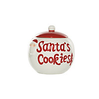 Red and White Santa Cookie Jar