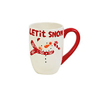 Red and White Snowman Mug