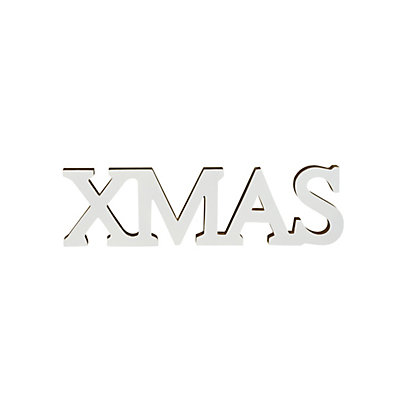 Image for Gold and White Wooden Xmas Sign from StoreName