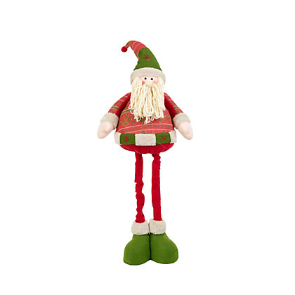 Image for 70cm Flexible Standing Santa Snowman from StoreName