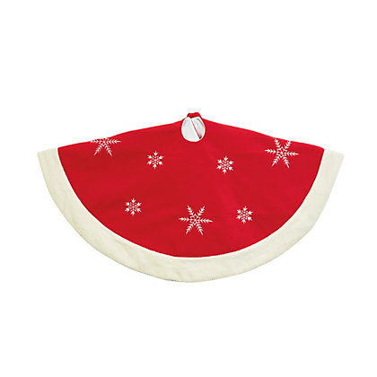 Image for Red Snowflake Tree Skirt from StoreName