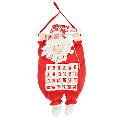 Image for Dangling Santa Fabric Advent Calendar from StoreName