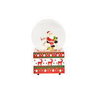 Santa Water Globe with Music