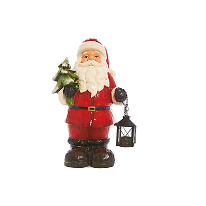 Image for Large Santa with Lantern Ornament from StoreName