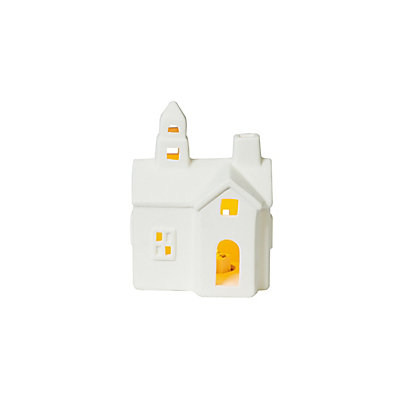 Image for Large White Porcelain Light Up House from StoreName
