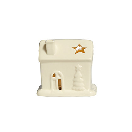 Image for Heirloom Small White Porcelain Light Up House from StoreName