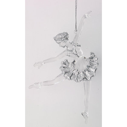 Image for Clear Acrylic Ballerina with Glitter from StoreName