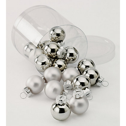 Image for Simplicity Mini Glass Baubles from StoreName