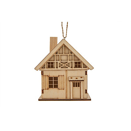 Image for Homespun Wooden Chalet Hanging Decoration from StoreName