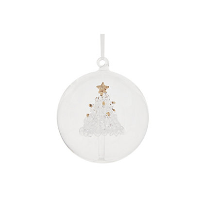 Image for Glass Tree Bauble from StoreName