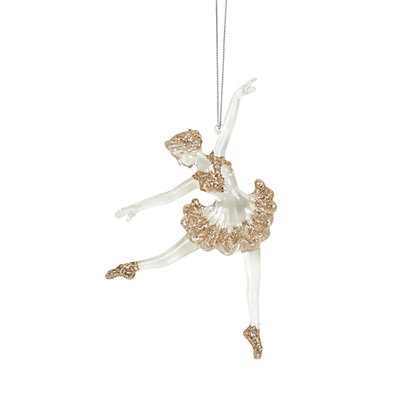Image for Golden Glitter Ballerina Ornament from StoreName