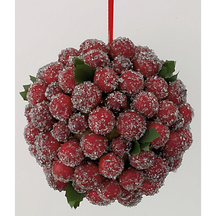 Image for Frosted Cranberry Kissing Ball from StoreName