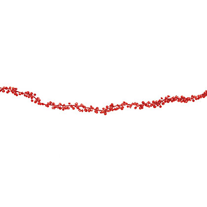 Image for Red Mini Bell Garland from StoreName