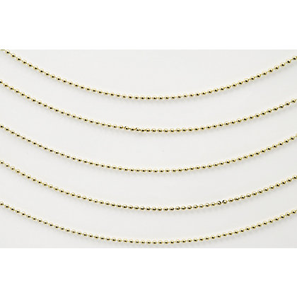 Image for Gold and Red Assorted Bead Chain from StoreName
