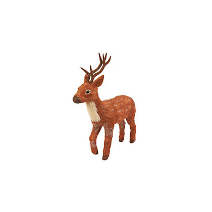 Image for Small Bristle Standing Reindeer from StoreName