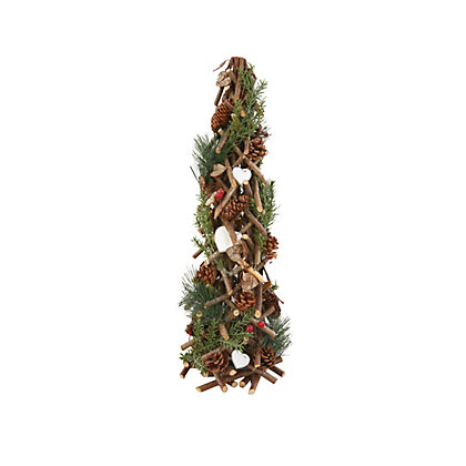 Image for Glitter Wooden Tree with pinecones from StoreName