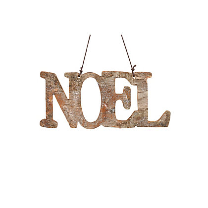 Image for Wooden Noel Sign with Glitter from StoreName