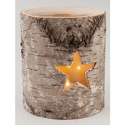 Image for Round Bark Candle Holder from StoreName