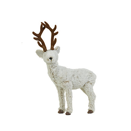 Image for Small Fluffy Standing Reindeer from StoreName