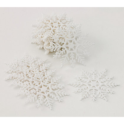 Image for White Glitter Snowflakes 20 pack from StoreName