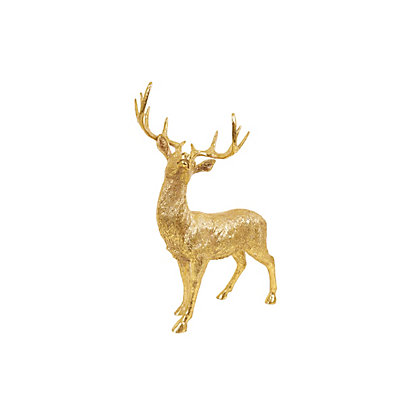 Image for Gold Resin Reindeer from StoreName