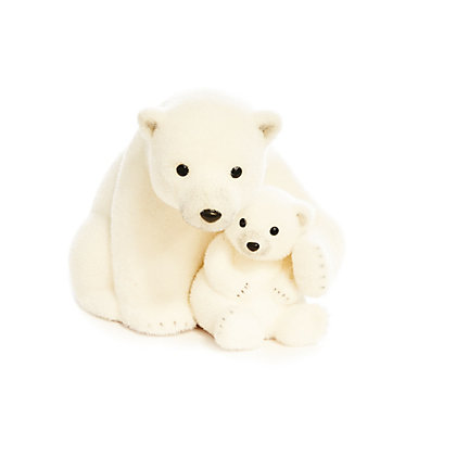 Image for Snowy Polar Bear Cuddling Baby from StoreName