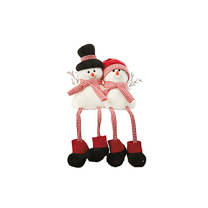 Image for Dangly Leg Snowman Couple from StoreName