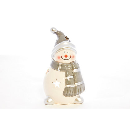 Image for Large Snowman Tealight Holder from StoreName