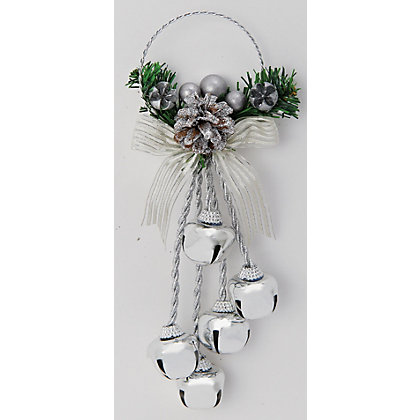 Image for Silver Jingle Bell Door Hanger from StoreName