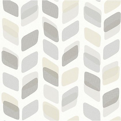 Image for Squares Grey & Taupe Wallpaper from StoreName
