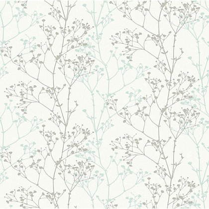 Image for Sprig Teal Wallpaper from StoreName