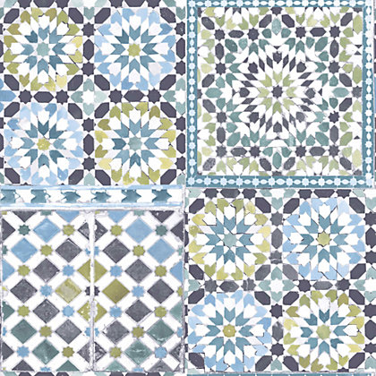 gran deco moroccan tile wallpaper