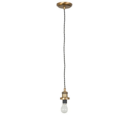 Image for Antique Brass & Black Cable Light Fitting from StoreName