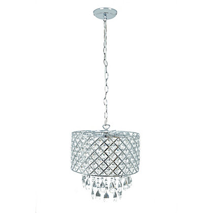 Image for Beaded Drum Glass Ceiling Light from StoreName