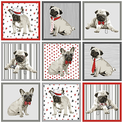 Image for Boris The Pug Red Wallpaper from StoreName