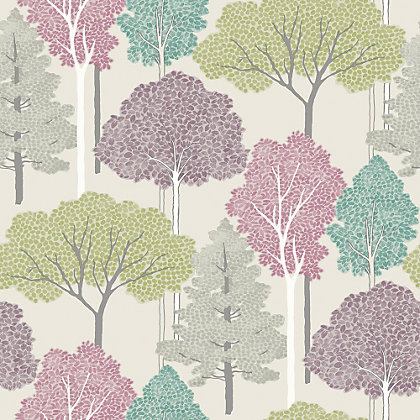 Image for Ellwood Trees Multicoloured Wallpaper from StoreName