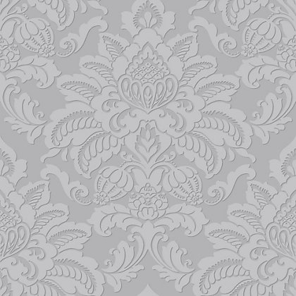 Image for Glisten Damask Platinum Wallpaper from StoreName