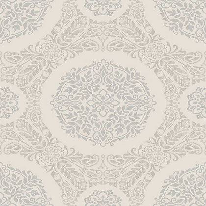 Image for Timour Pearl Medallion Wallpaper from StoreName