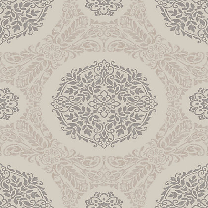Image for Timour Rose Gold Medallion Wallpaper from StoreName