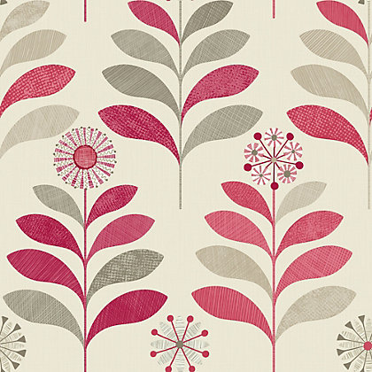 Image for Tamara Red Floral Wallpaper from StoreName
