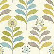 Tamara Teal & Green Floral Wallpaper