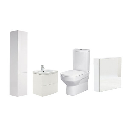 Image for Charlton White Bathroom Suite Great Value Pack from StoreName