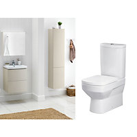Charlton White & Cappuccino Bathroom Suite Great Value Pack