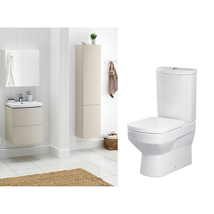 Image for Charlton White & Cappuccino Bathroom Suite Great Value Pack from StoreName