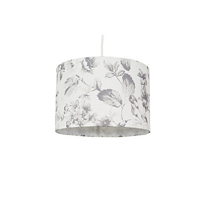 Image for Water Colour Leaves Print Lamp Shade - White from StoreName