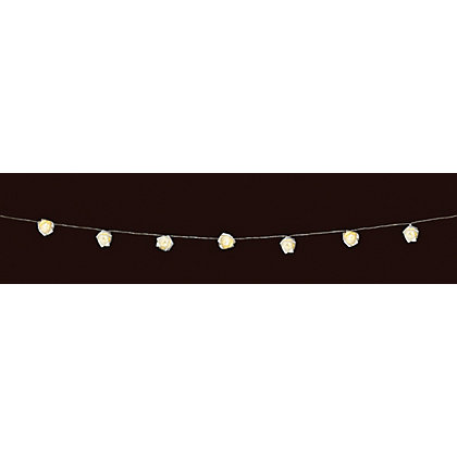 Image for 10 White Rose String Lights from StoreName