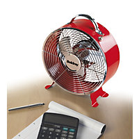 Beldray Retro 9 Inch Clock Fan - Red