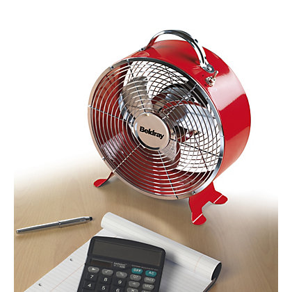 Image for Beldray Retro 9 Inch Clock Fan - Red from StoreName