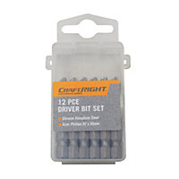 Craftright 12 Piece Driver Bit Set - 50mm